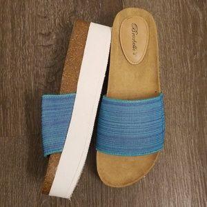 Blue Comfortable Slides